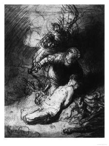 The Sacrifice of Isaac, British Museum, London by Rembrandt van Rijn
