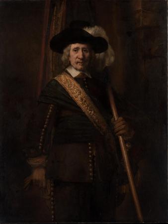The Standard Bearer, Floris Soop, 1654 by Rembrandt van Rijn