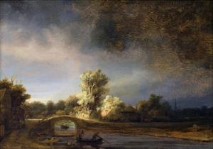 The Stone Bridge by Rembrandt van Rijn