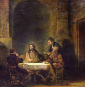 The Supper at Emmaus, 1648 by Rembrandt van Rijn