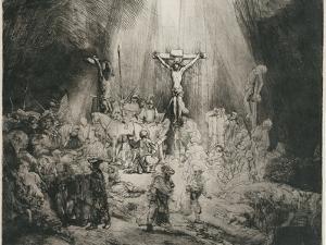 The Three Crosses, C. 1653 by Rembrandt van Rijn