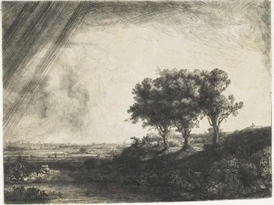 The Three Trees, 1643 by Rembrandt van Rijn