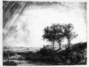The Three Trees, Engraved by James Bretherton (Etching) by Rembrandt van Rijn