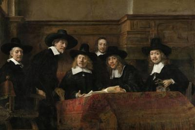 The Wardens of the Amsterdam Drapers' Guild, known as 'The Syndics', 1662 by Rembrandt van Rijn