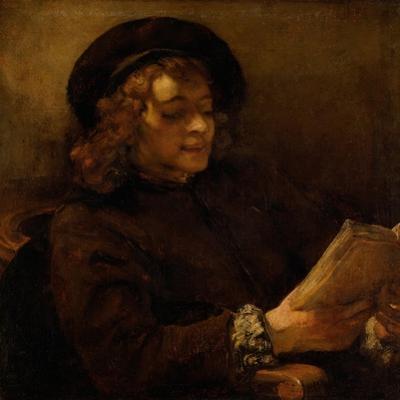 Titus reading, 1656-7 by Rembrandt van Rijn