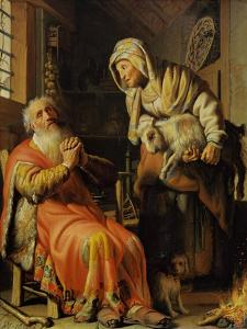 Tobit and Anna by Rembrandt van Rijn