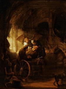 Tobit Heals His Father's Blindness by Rembrandt van Rijn