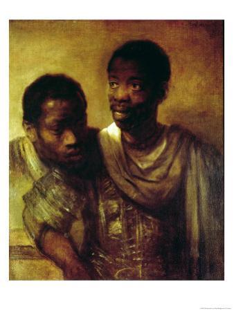 Two Negroes by Rembrandt van Rijn