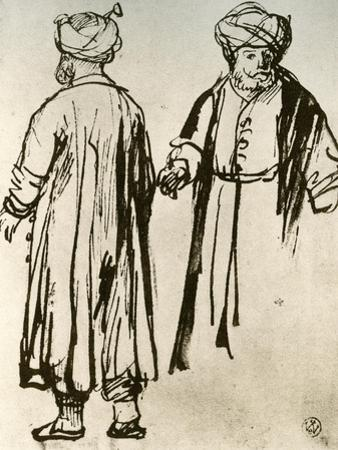 Two Turks Walking, 1913 by Rembrandt van Rijn