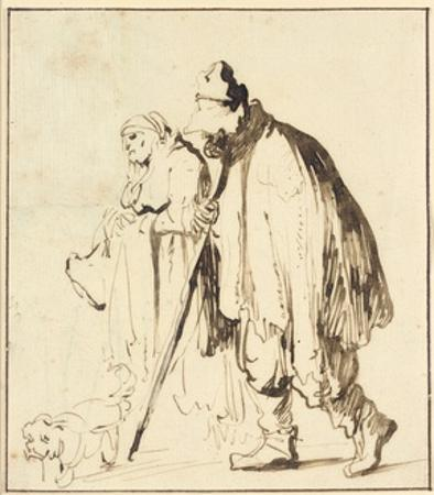 Vagrant Couple with a Dog by Rembrandt van Rijn
