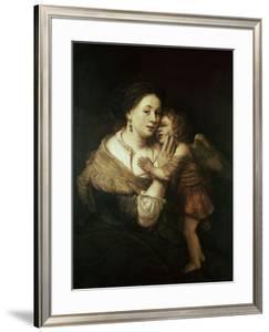 Venus and Love. 17th Century. Paris, Musée Du Louvre by Rembrandt van Rijn