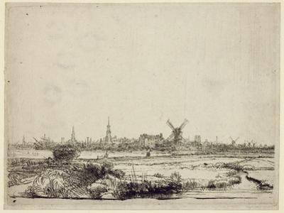 View of Amsterdam, C.1640 by Rembrandt van Rijn