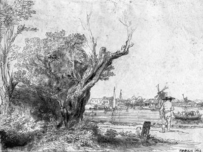 View of Omval, Near Amsterdam, 1645 by Rembrandt van Rijn