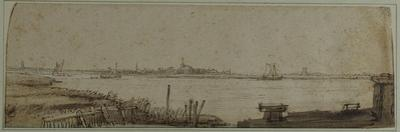 View of the River Ij from the Diemerdijk, C.1650 by Rembrandt van Rijn