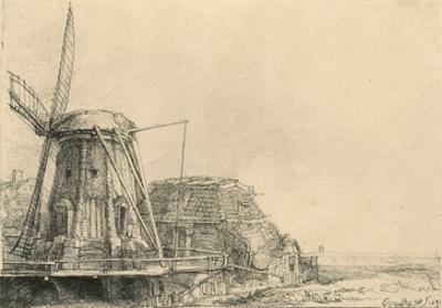 Windmill by Rembrandt van Rijn