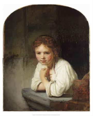 Young Girl at a Window (1645) by Rembrandt van Rijn