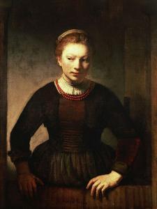 Young Girl at an Open Half-Door, 1645 by Rembrandt van Rijn