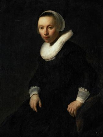 Young Woman Sitting in a Chair by Rembrandt van Rijn