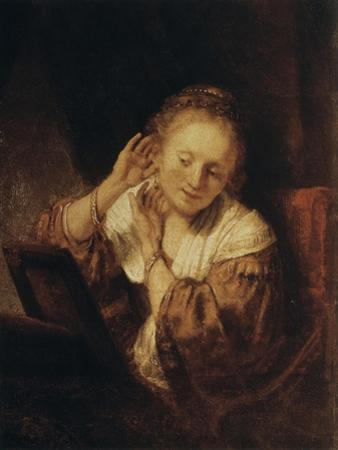 Young Woman with Earrings, 1657 by Rembrandt van Rijn