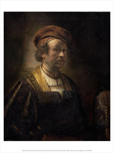 Rembrandt Workshop, Portrait of Rembrandt, 1650-Rembrandt van Rijn-Art Print