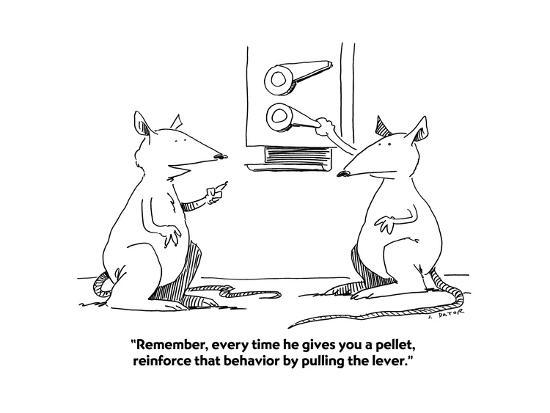 """""""Remember, every time he gives you a pellet, reinforce that behavior by p?"""" - Cartoon-Joe Dator-Premium Giclee Print"""