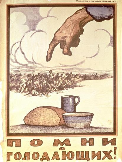 Remember the Hungry!, Poster, 1921-Ivan Simakov-Giclee Print