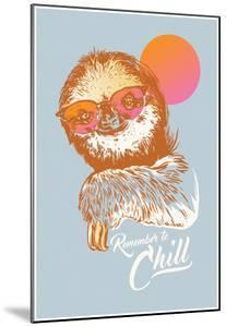 Remember To Chill Sunset Sloth