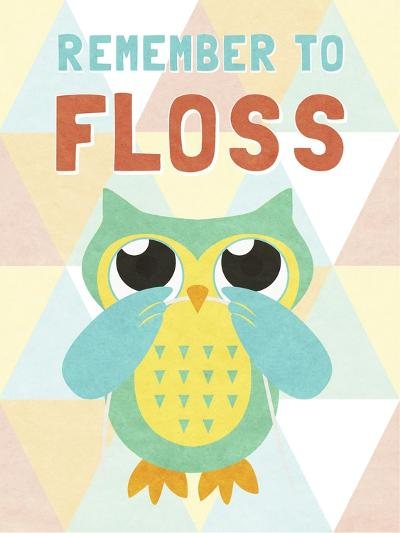 Remember to Floss--Premium Giclee Print