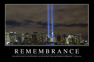 Remembrance: Inspirational Quote and Motivational Poster
