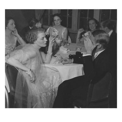 Vogue - February 1936 - Couples Dining at The St. Regis
