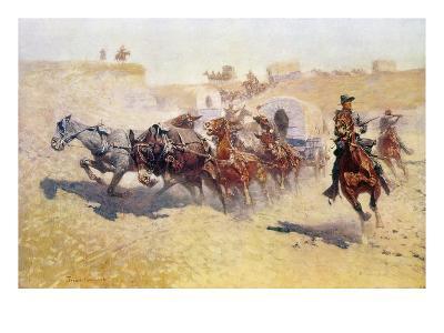 Remington: Attack-Frederic Sackrider Remington-Giclee Print