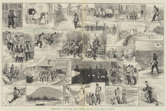 Reminiscences of the Easter Monday Review, Sketches on the March to Brighton-Alfred Courbould-Giclee Print