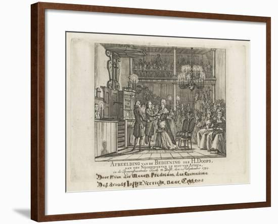 Remonstrant baptism of African woman in Delft, 1794-Dutch School-Framed Giclee Print