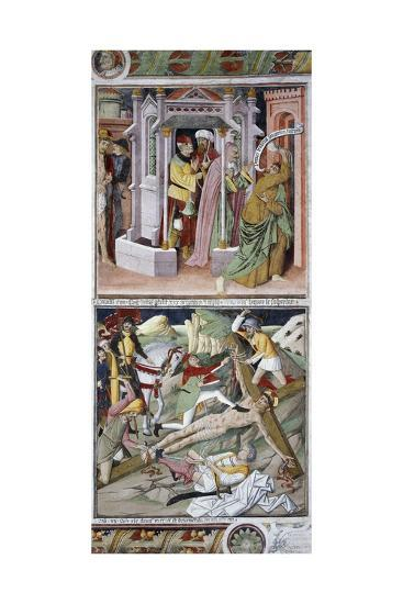 Remorse of Judas and Crucifixion-Giovanni Canavesio-Giclee Print