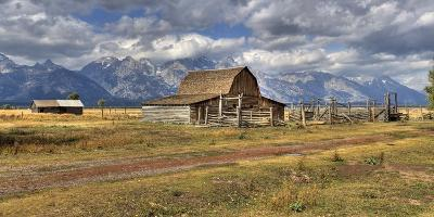 Remote Landscape with Mountains in Background; Mormon Row Historic District-Design Pics Inc-Photographic Print