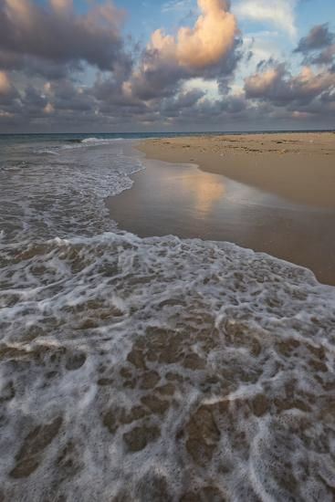 Remote sandy beach on an uninhabited island, Kingdom of Tonga, Pacific Islands-Judith Zimmerman-Premium Photographic Print