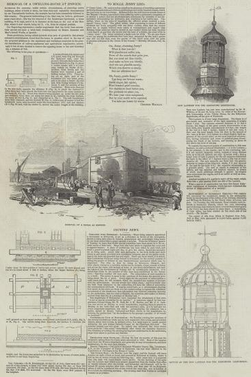 Removal of a Dwelling-House at Ipswich--Giclee Print