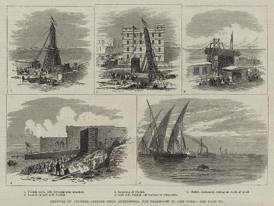 Removal of Another Obelisk from Alexandria, for Transport to New York-Thomas Harrington Wilson-Giclee Print