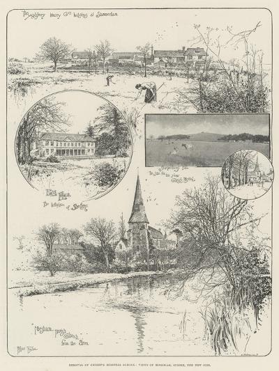 Removal of Christ's Hospital School, Views of Horsham, Sussex, the New Site-Joseph Holland Tringham-Giclee Print