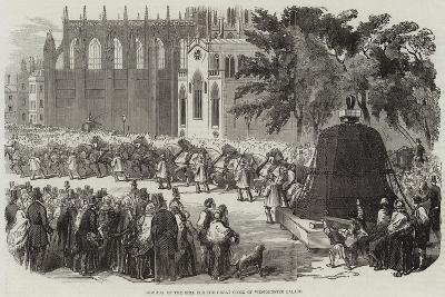 Removal of the Bell for the Great Clock of Westminster Palace--Giclee Print