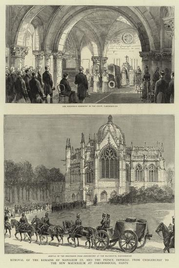 Removal of the Remains of Napoleon III and the Prince Imperial from Chislehurst to the New Mausoleu--Giclee Print