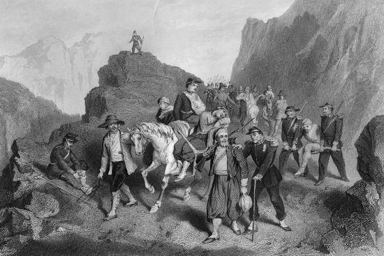 Removal of Wounded Soldiers from the Field of Battle, Crimean War-G Greatbach-Giclee Print