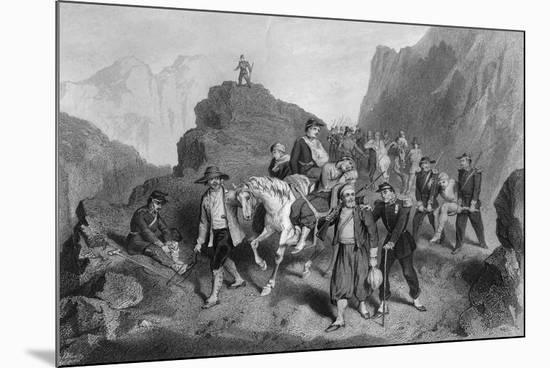 Removal of Wounded Soldiers from the Field of Battle, Crimean War-G Greatbach-Mounted Giclee Print