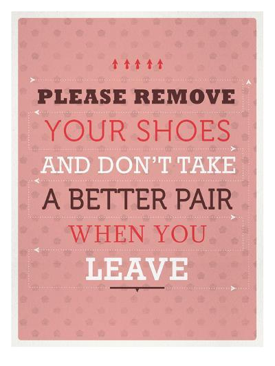 Remove your Shoes-Maria Hernandez-Art Print