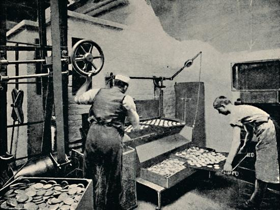 'Removing Biscuits from Oven', c1917-Unknown-Photographic Print