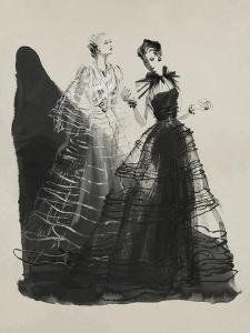 Vogue - April 1936 - Black and White Dresses by Vionnet by Ren? Bou?t-Willaumez