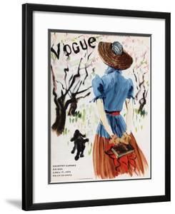 Vogue Cover - April 1938 by Ren? Bou?t-Willaumez