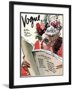 Vogue Cover - July 1941 by Ren? Bou?t-Willaumez
