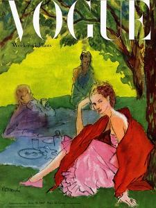 Vogue Cover - June 1947 by Ren? R. Bouch?