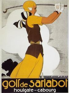 Golf, Female, 1930 by Ren? Vincent